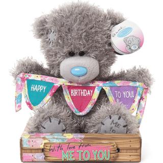 Me to You - Happy Birthday Bunting Plush Bear