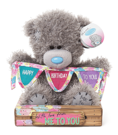 Me to You - Happy Birthday Bunting Plush Bear