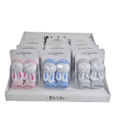 ES Kids - Bunny Socks with Rattles