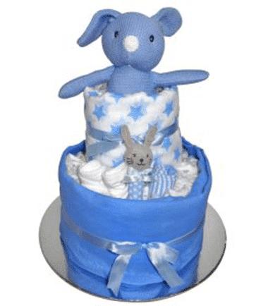 ES Kids - Blue Bunny Nappy Cake Gift Set