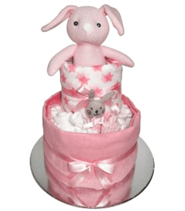 ES Kids - Pink Bunny Nappy Cake Gift Set