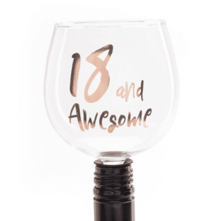 18 and Awesome Tipple Topper Wine Glass