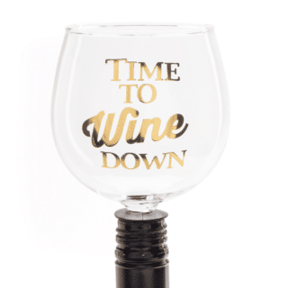 Time To Wine Down Tipple Topper Wine Glass
