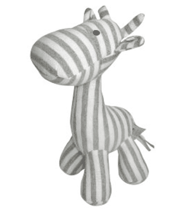 ES Kids - Grey Stripe Giraffe Rattle