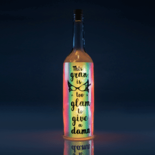 Gran Iridescent Wishlight Bottle - This gran is too glam to give a damn