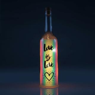 Love Iridescent Wishlight Bottle - Love is Love