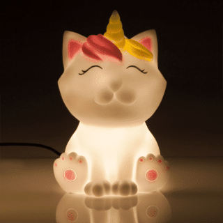 LED Caticorn Table Lamp