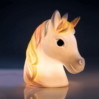 White Unicorn LED Table Lamp