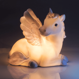 LED Table night light designed as an elegant looking unicorn