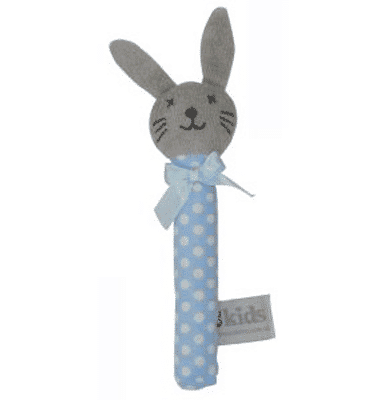ES Kids - Blue Dots Bunny Stick Rattle