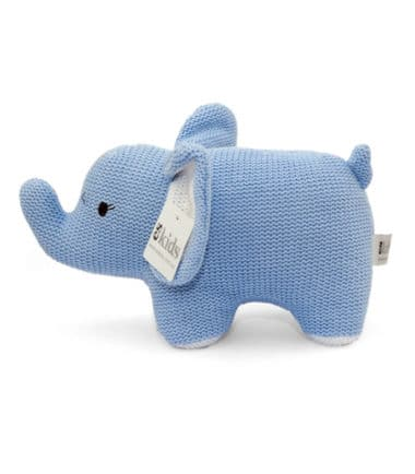 ES Kids - Blue Knitted Elephant Rattle