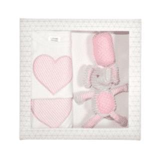 ES Kids - 3Pcs Pink Elephant Baby Gift Box