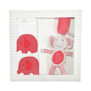 ES Kids - 3Pcs Red Dots Elephant Baby Gift Box