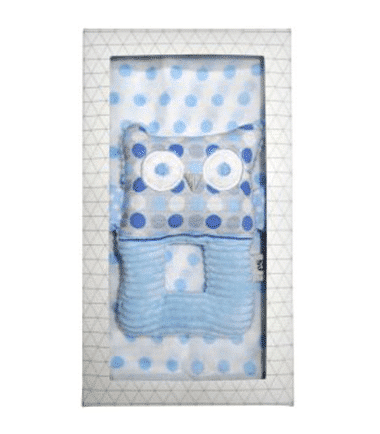 ES Kids - 2Pcs Blue Owl Baby Gift Box