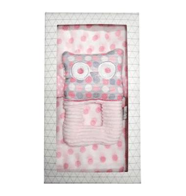 ES Kids - 2Pcs Pink Owl Baby Gift Box