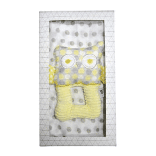 ES Kids - 2Pcs Yellow Owl Baby Gift Box
