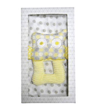 ES Kids - 2Pcs Yellow Owl Baby Gift Box