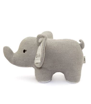 ES Kids - Grey Knitted Elephant Rattle
