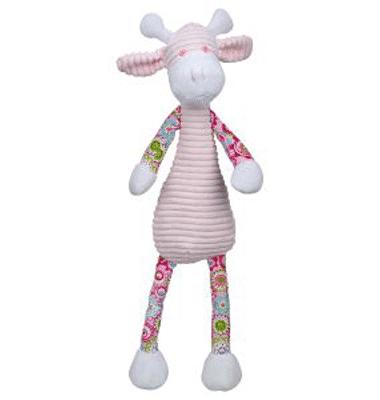 ES Kids - Pink Floral Dangly Giraffe Soft Toy