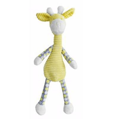 ES Kids - Yellow Dangly Giraffe Soft Toy. Suitable for babies of all ages
