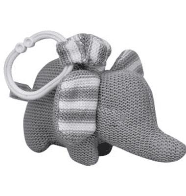 ES Kids - Grey Knitted Elephant Pram Toy