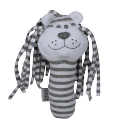 ES Kids - Grey Stripe Lion Stick Rattle