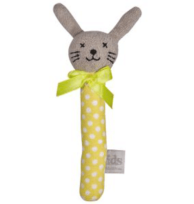 ES Kids - Yellow Dots Bunny Stick Rattle