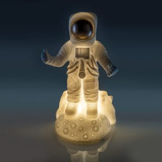 Astronaut Table Lamp. Gift idea for children, Nursery gifts.