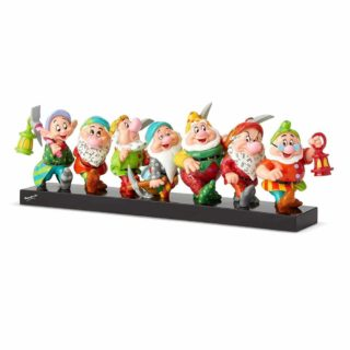 Britto Disney Seven Dwarfs on Log Figurine