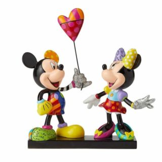 Britto Disney Mickey and Minnie with Balloon Figurine Limitted Edition