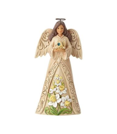 Jim Shore Monthly Angels - December Angel. Birthday Gifts