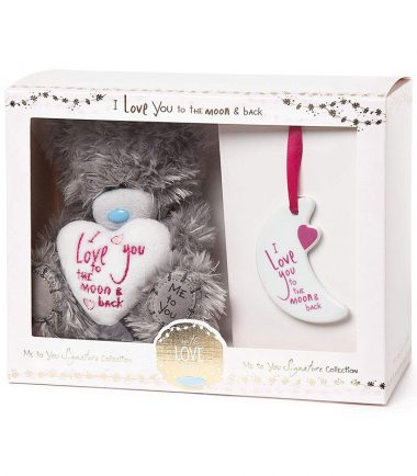 Me to You Signature Collection - I Love You to the Moon & Back Plush and Plaque Gift Set