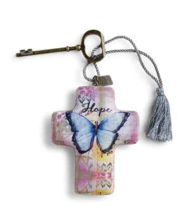 artful cross hope butterfly