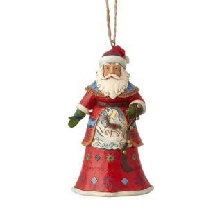 Heartwood Creek Classic Lapland Santa With Strap Hanging Ornament