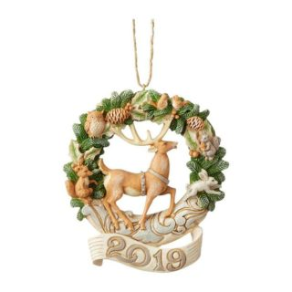Heartwood Creek Wreath 2019 Dated Hanging Ornament