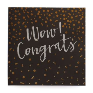 Classic Piano Greeting Card Wow! Congrats