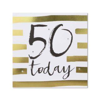 Classic Piano Birthday Card - 50 Today