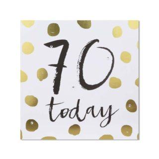 Classic Piano 70 Birthday Card 70 Today