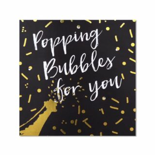 """Classic Piano Congratulations Card - """"popping bubbles for you"""""""