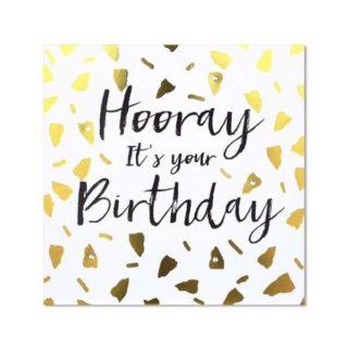 "Classic Piano Birthday Card - ""Hooray It's your Birthday"""