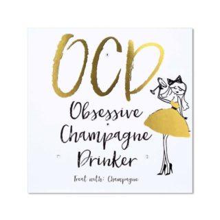Classic Piano Birthday Card - Obsessive Champagne Drinker