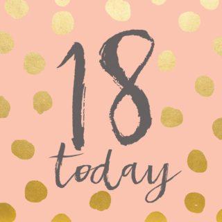 Classic Piano 18 Birthday Card 18 Today