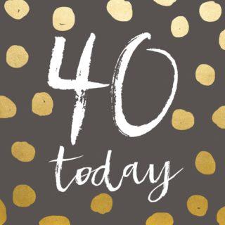 Classic Piano Birthday Card 40 Today