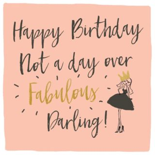 Classic Piano Birthday Card Fabulous Darling