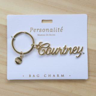 Bag Charm Keyring - Courtney