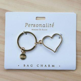 Bag Charm Keyring - Heart