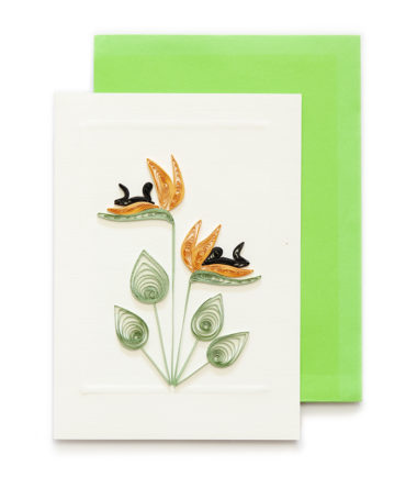 Quilling Handcrafted Card - Floral 12 x 17 cm