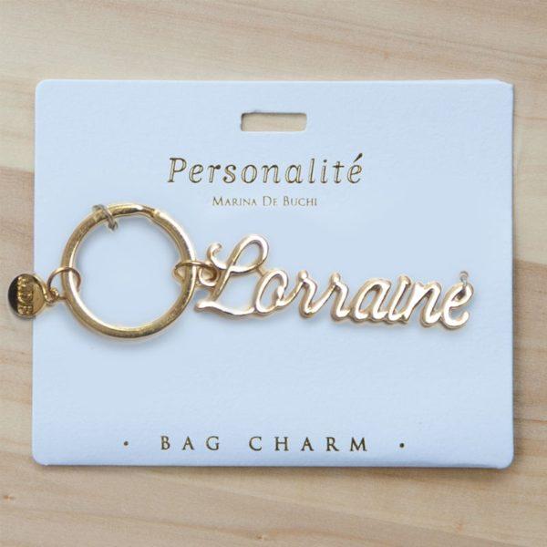 Bag Charm Keyring - Lorraine