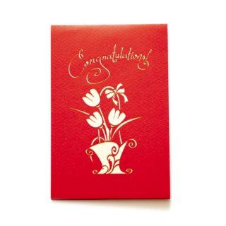 Pop-Up Card - Congratulations Flowers