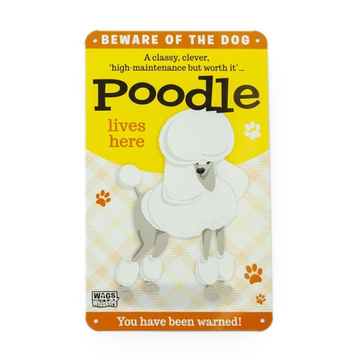 Wags & Whiskers Plaques - Poodle
